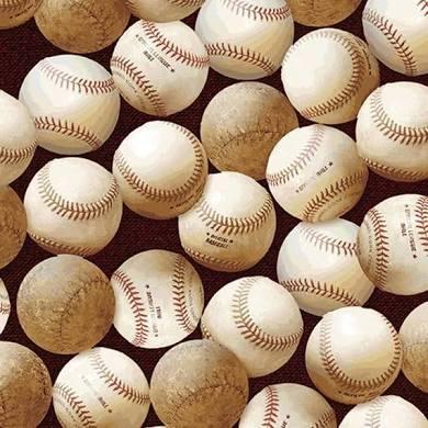 Benartex Play Ball 02607 Brown