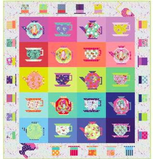 Tula Pink Mad Hatter Tea Party Quilt Kit (PREORDER)