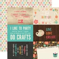 I'd Rather Be Crafting Double-Sided Cardstock 12X12 4X6 Journaling Cards