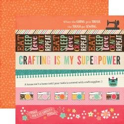I'd Rather Be Crafting Double-Sided Cardstock 12X12 Border Strips