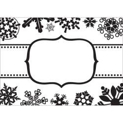 CGull 5x7 embossing folder Snowflake boarder
