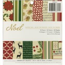 American Crafts Single-Sided Paper Pad 6X6 36/Pkg Noel