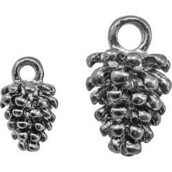 Idea-Ology Metal Adornments .5 To .75 24/Pkg Antique Nickel Pinecones