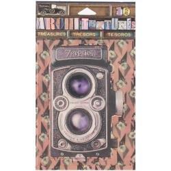7 Gypsies Architextures Treasures Adhesive Embellishments Vintage Style Camera 4