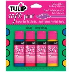 Tulip Soft Fabric Paint 1oz 4/Pkg Primary
