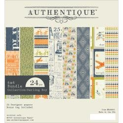 Authentique Double-Sided Cardstock Pad 6X6 24/Pkg Darling Boy, 12 Designs/2 Each