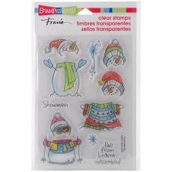 Stampendous Perfectly Clear Stamps Winter Stack