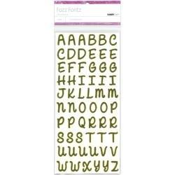 Fozz Fontz Self-Adhesive Felt Alphabet 7/8 2 Sheets/Pkg Olive