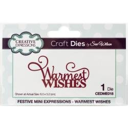 Creative Expressions Festive Craft Dies By Sue Wilson-Mini Expressions-Warmest W...