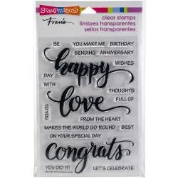 Stampendous  clear stamp set Big words happy