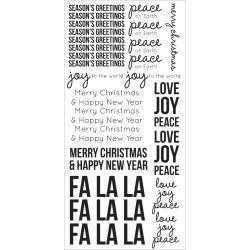 Kaisercraft clear sticker sheet  Seasons greetings 6x12