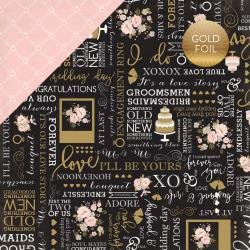 Wedding Bliss Foiled Cardstock 12X12 True Love
