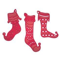Spellbinders stocking trio die