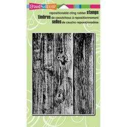 Stampendous red rubber cling stamp Wood Background 4x5
