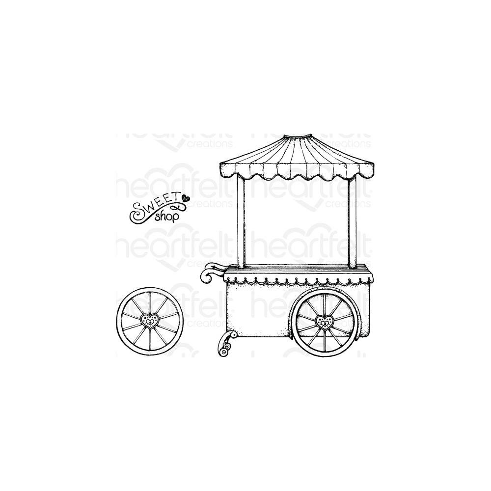 Heartfelt Creations Cling Rubber Stamp  and die Set-Sweet Shoppe .75 To 5