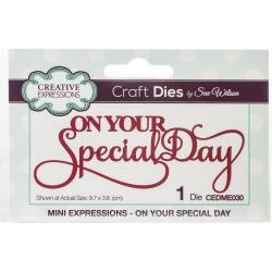 Creative Expressions Craft Dies By Sue Wilson-Mini Expressions-On Your Special D...
