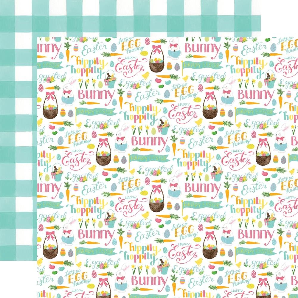 I Love Easter Double-Sided Cardstock 12X12-Easter Basket