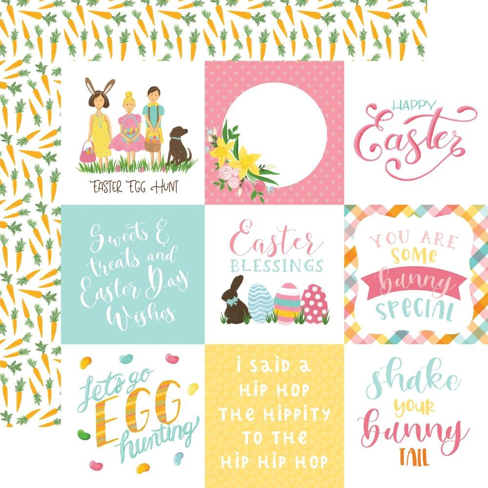 I Love Easter Double-Sided Cardstock 12X12-4X4 Journaling Cards