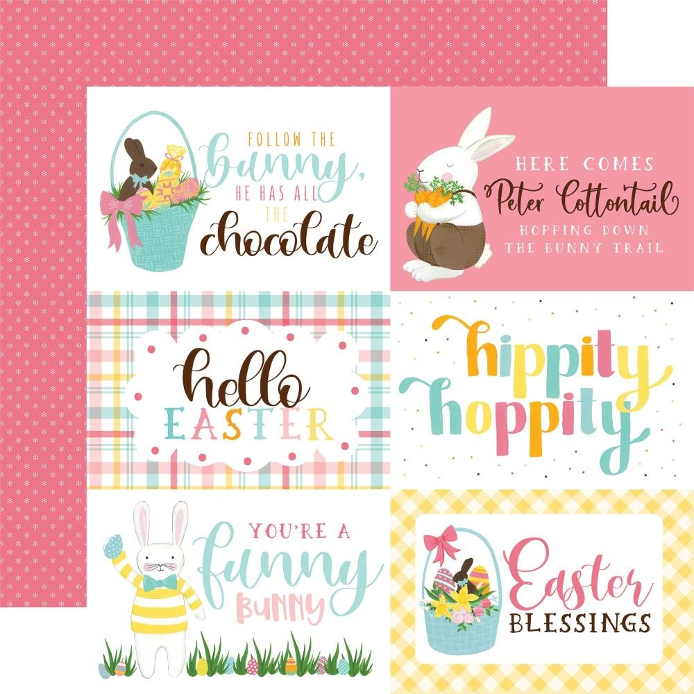 I Love Easter Double-Sided Cardstock 12X12-4X6 Journaling Cards