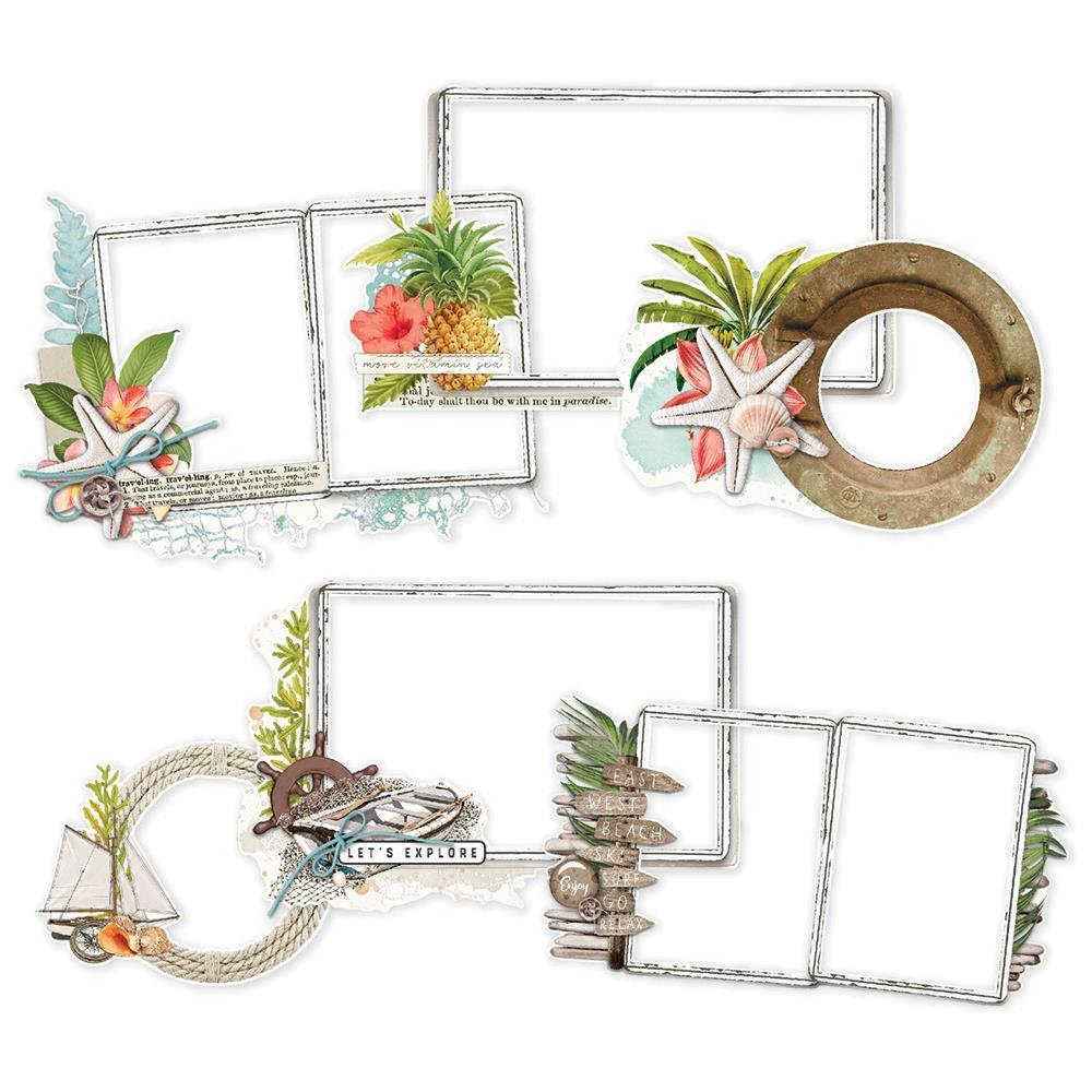 Simple Vintage Coastal Layered Frames Die-Cuts 6/Pkg-