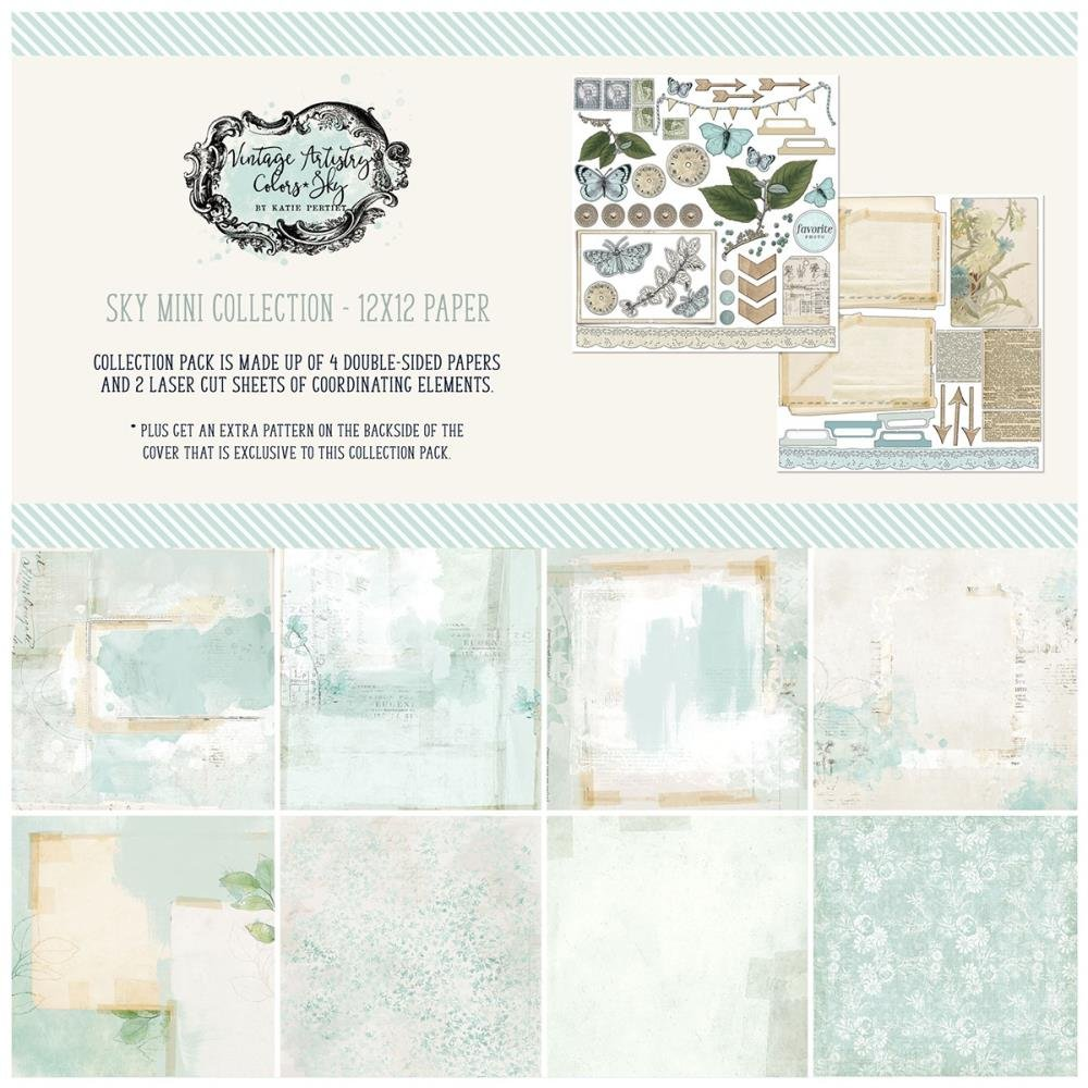 49 And Market Collection Pack 12X12-Vintage Artistry Sky
