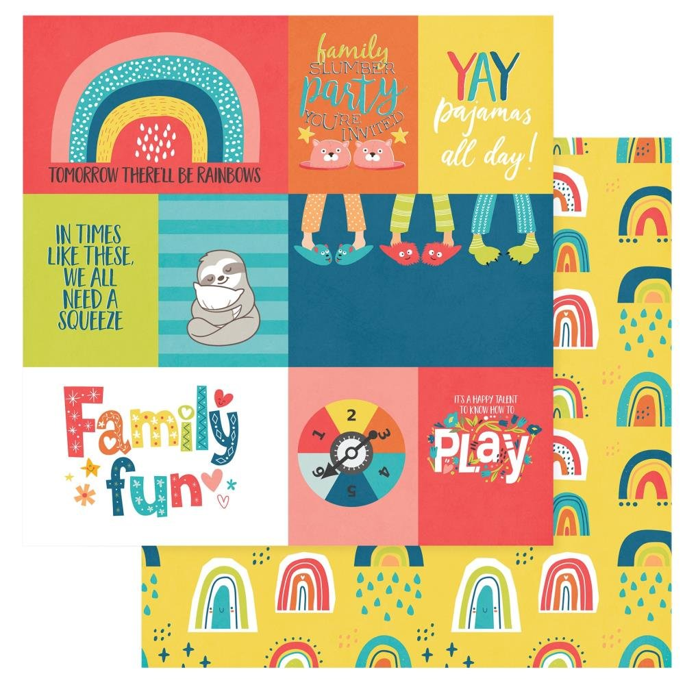 We Can Just Stay Home Double-Sided Cardstock 12X12-Family Fun