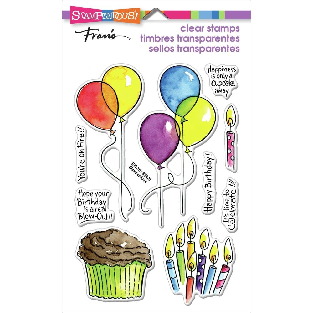 Stampendous Perfectly Clear Stamps-Balloons & More