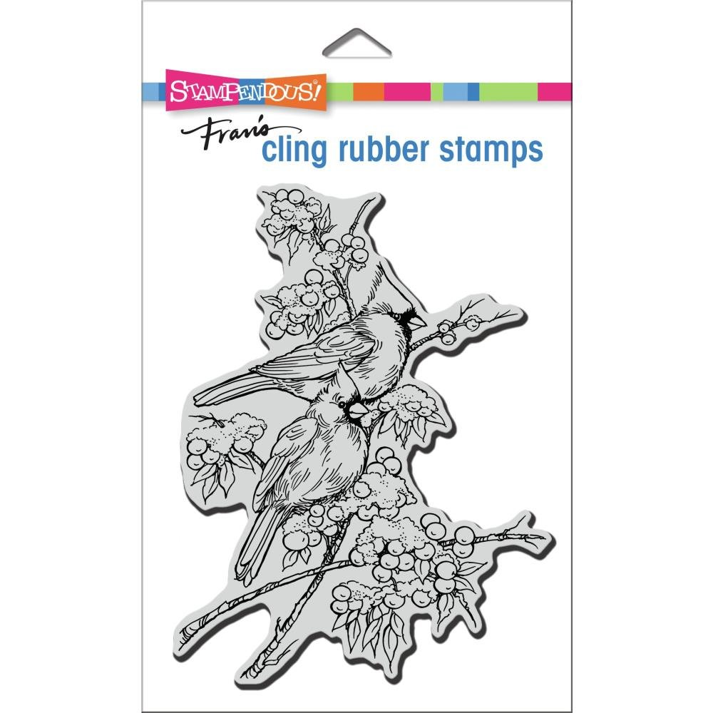 Stampendous Cling Stamp-Cardinal Pair
