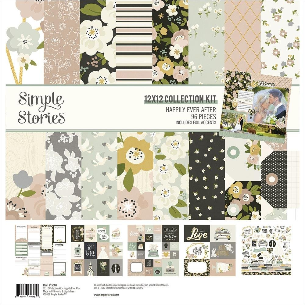 Simple Stories Collection Kit 12X12-Happily Ever After