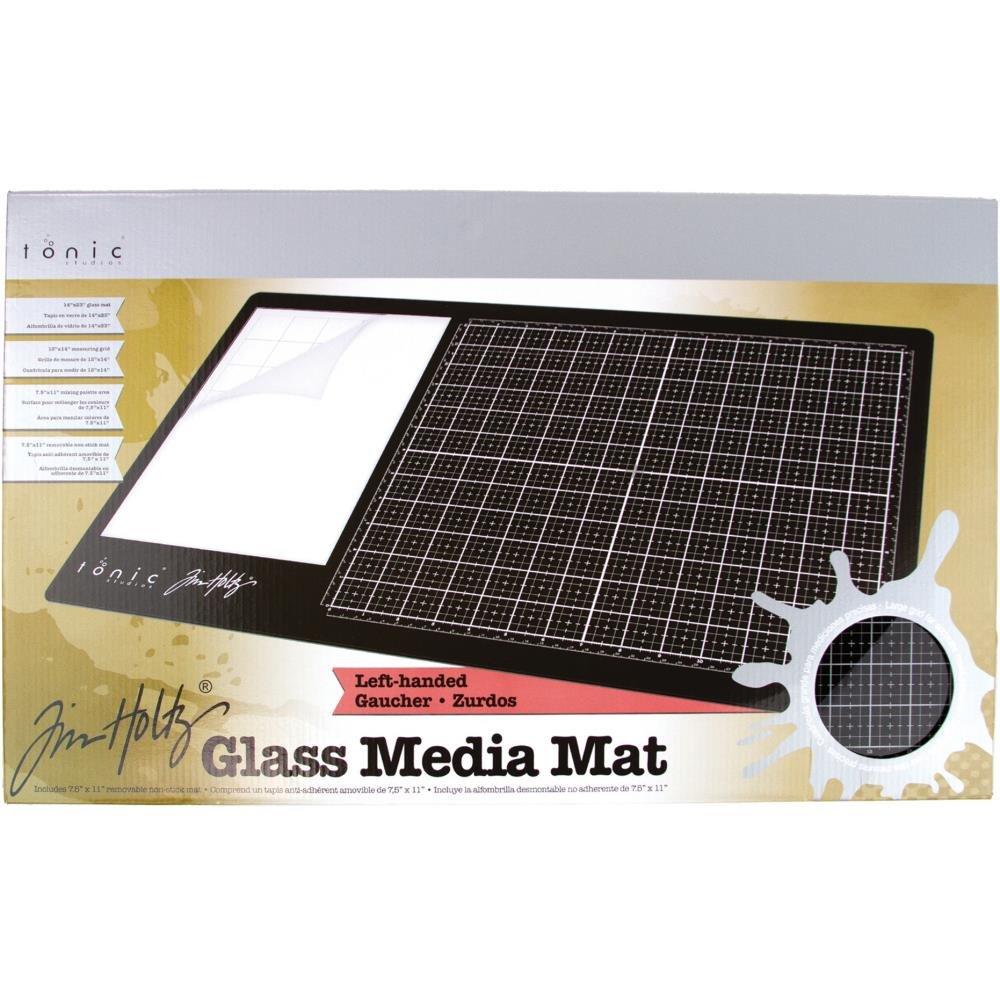 Tim Holtz Glass Media Mat 23.75X14.25-Left-Handed