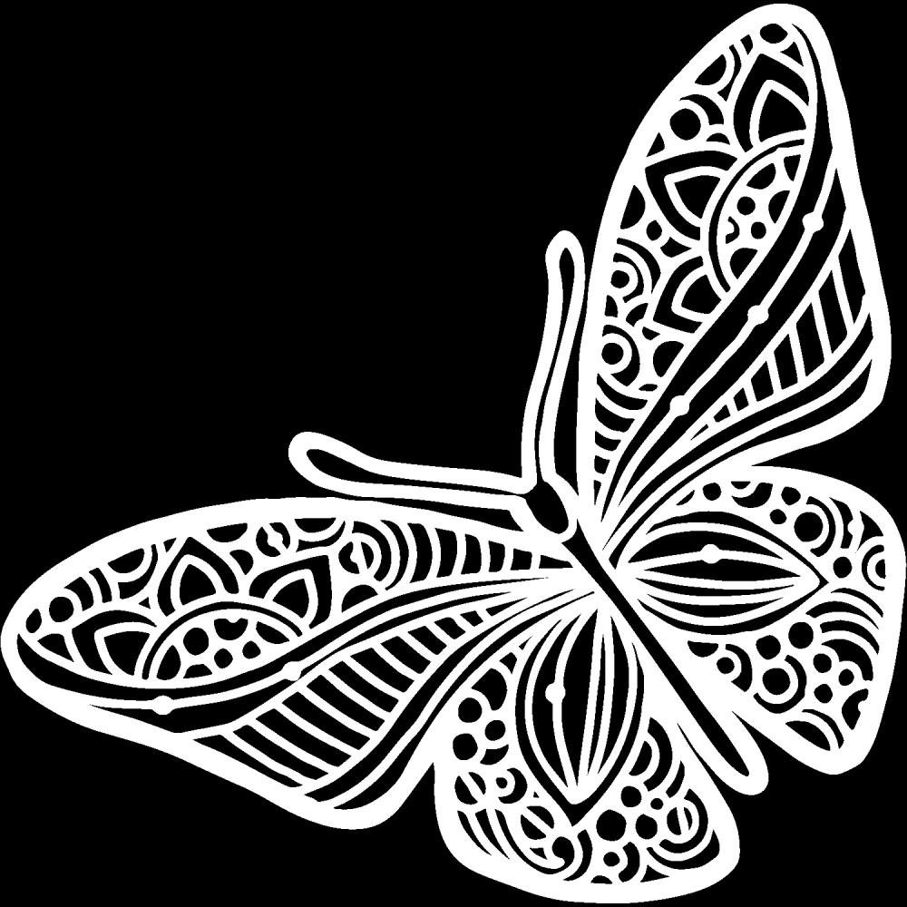 6x6 stencil Joyous butterfly The Crafters Workshop