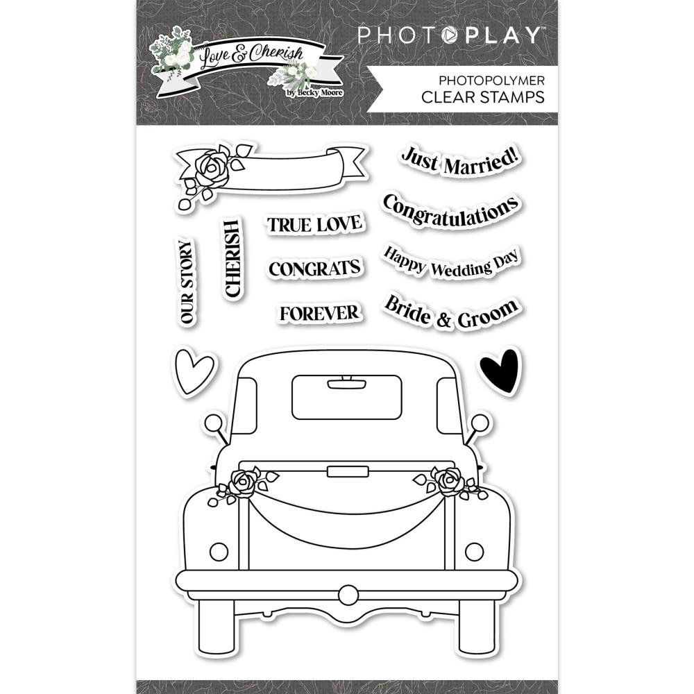 PhotoPlay Photopolymer Stamp-Love & Cherish