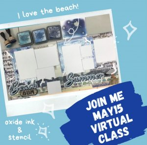Beach Bum Layout kit by Karens Creations may 15