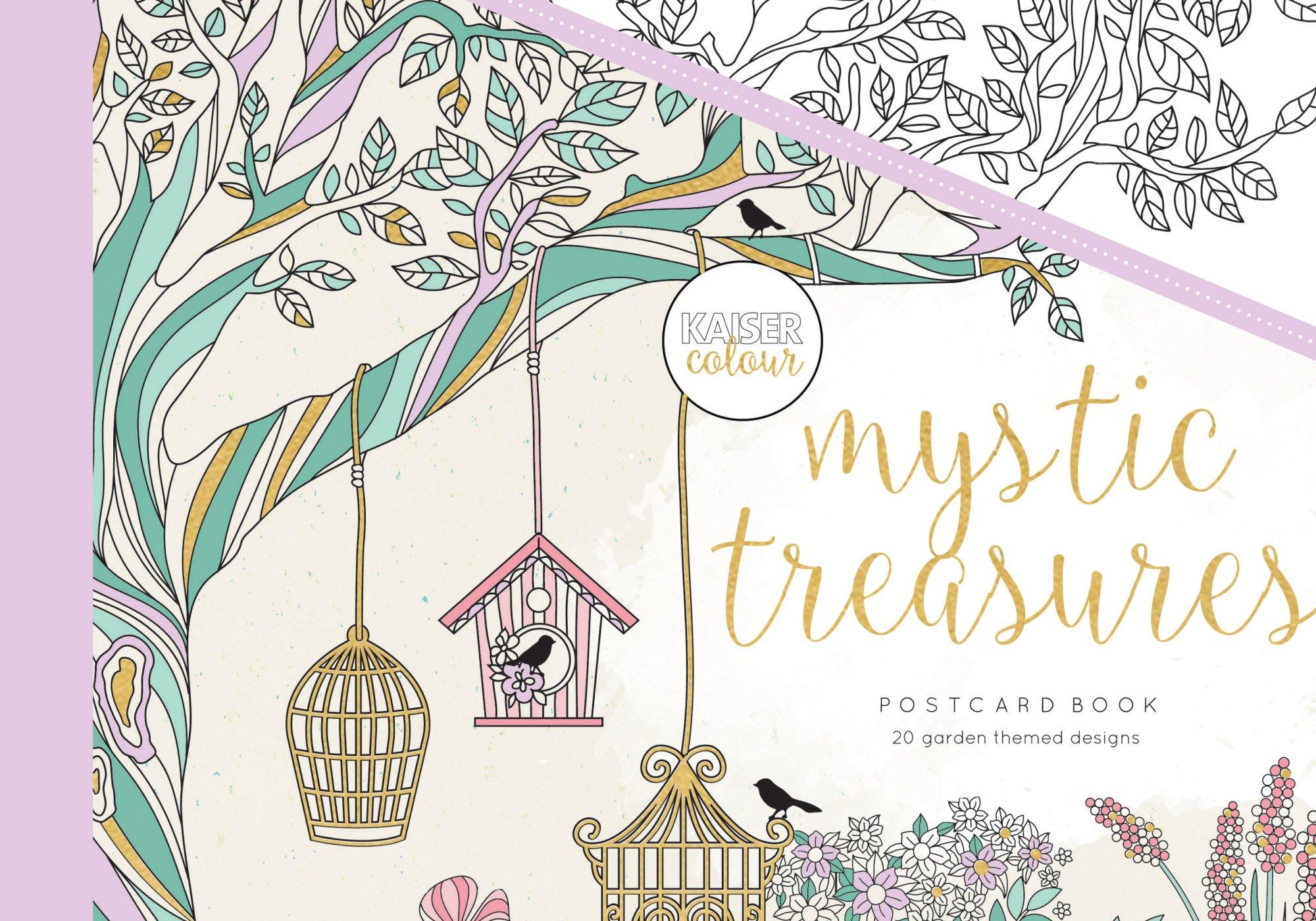 KaiserColour Postcard Book Mystic Treasures