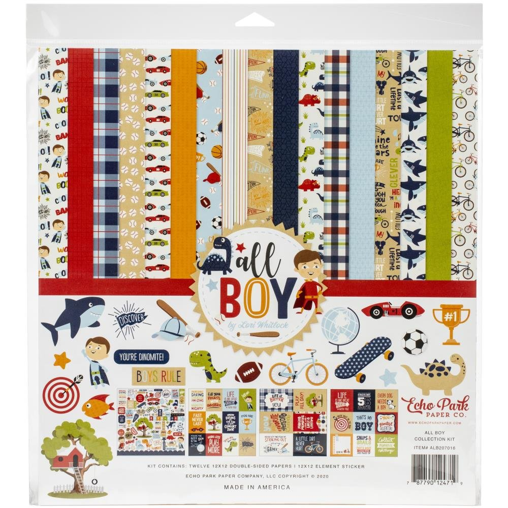 Echo Park Collection Kit 12X12-All Boy