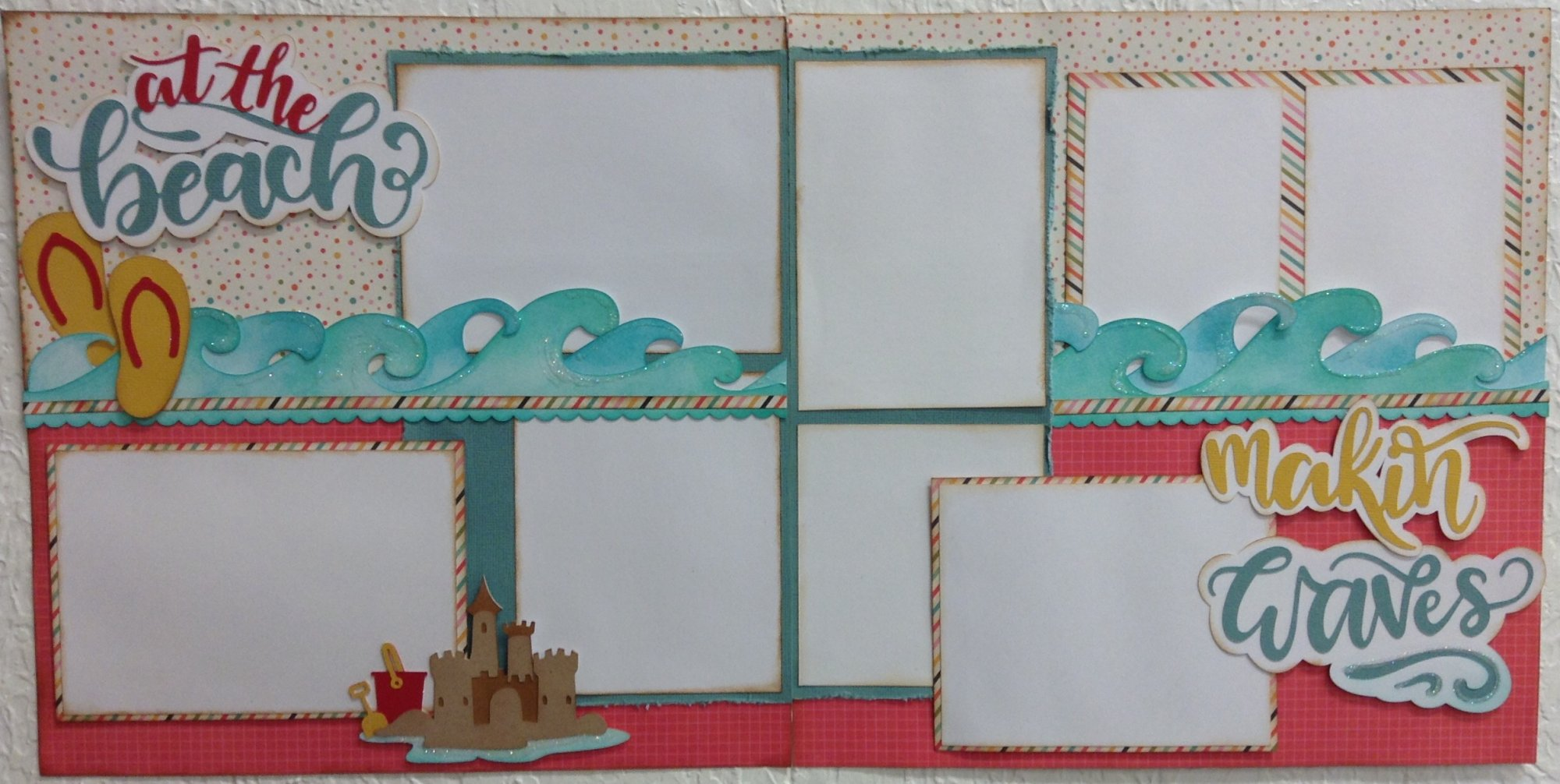 At the beach 12x12 Layout