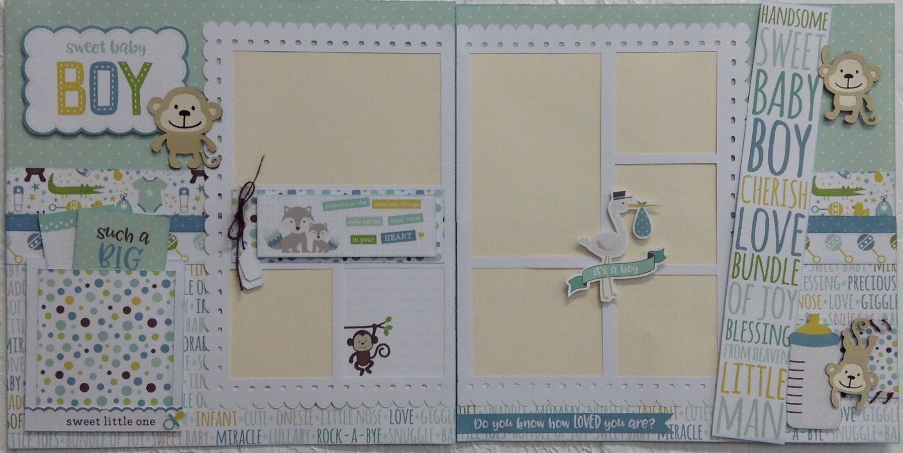 Baby Boy Layout 12x12 Layout