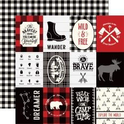 Little Lumberjack Double-Sided Cardstock 12X12-3X4 Journaling Cards