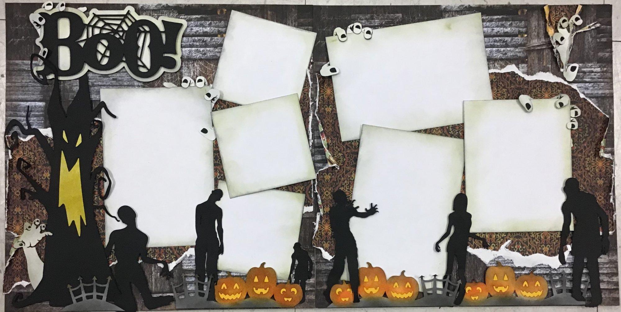 Boo Halloween 12x12 Layout  - copy