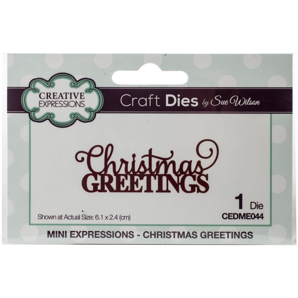 Creative Expressions Craft Dies By Sue Wilson-Mini Expressions- Christmas Greeti...