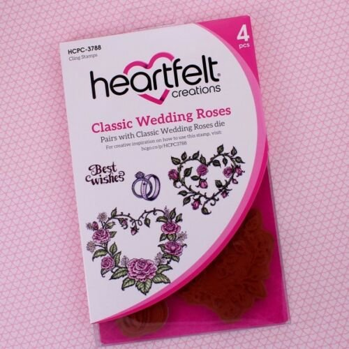 Heartfelt Creations Cling Rubber Stamp and die  Set-Classic Wedding Roses