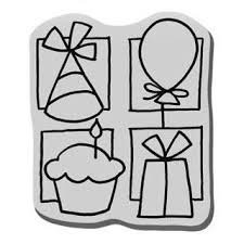 Stampendous cling rubber stamp 2x1.5