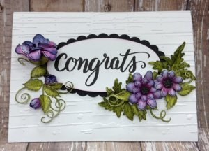 Congrats card kit made by Karen's Creations - copy
