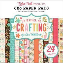Echo Park Double-Sided Paper Pad 6X6 24/Pkg I'd Rather Be Crafting, 12 Designs/2 Ea
