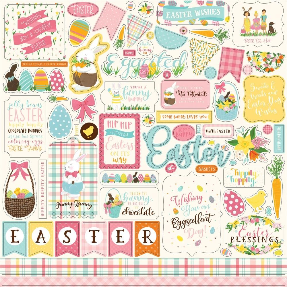 I Love Easter Cardstock Stickers 12X12-Elements