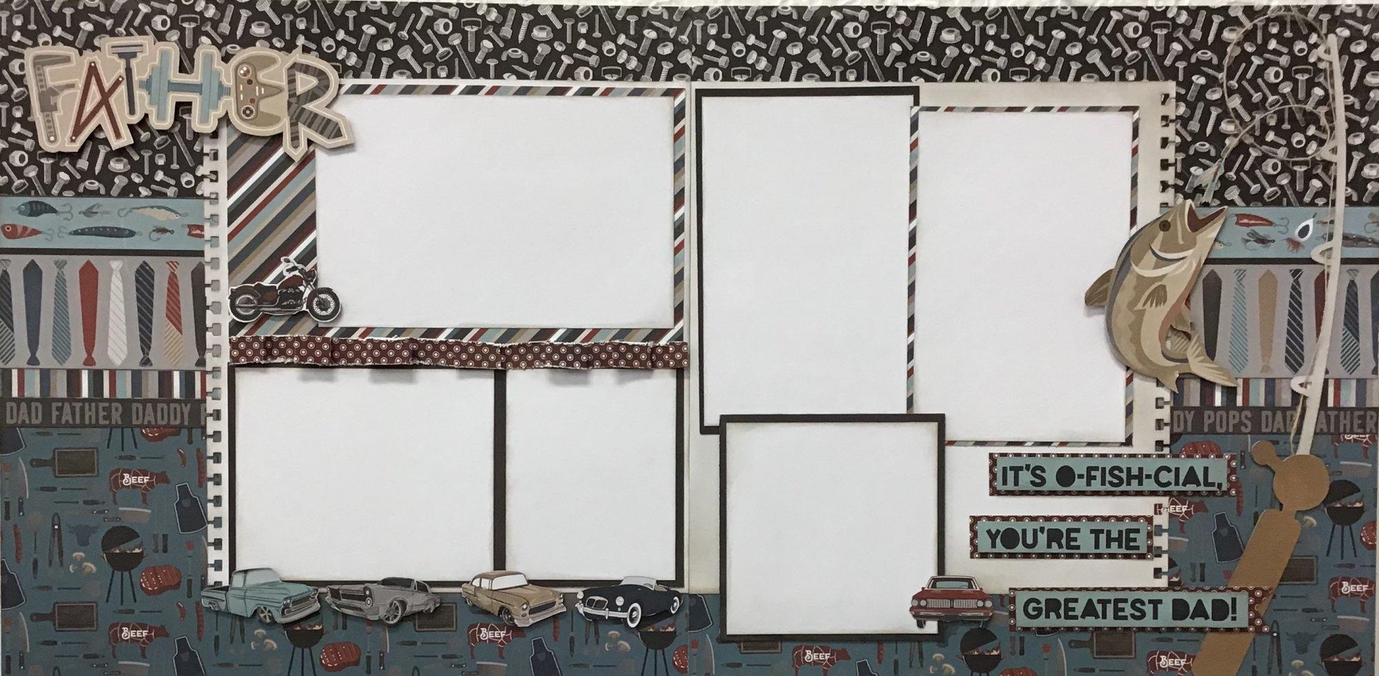 Father 12x12 Scrapbook kit layout