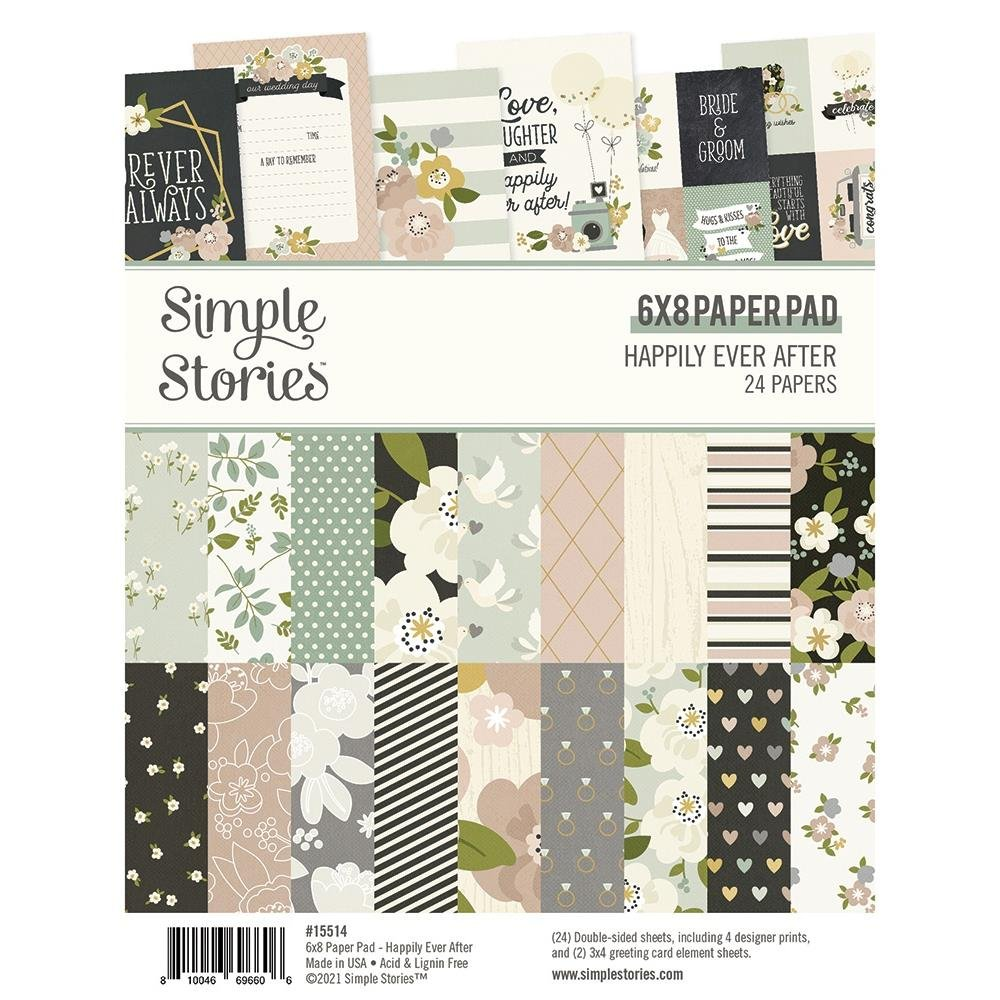 Simple Stories Double-Sided Paper Pad 6X8 24/Pkg-Happily Ever After