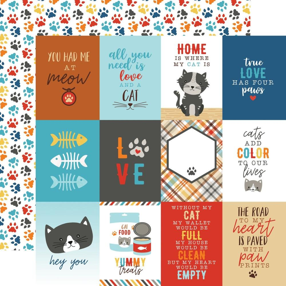 I Love My Cat Double-Sided Cardstock 12X12-3X4 Journaling Cards
