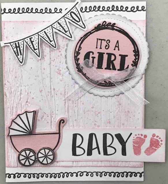 Baby Girl Card by Karen's Creations