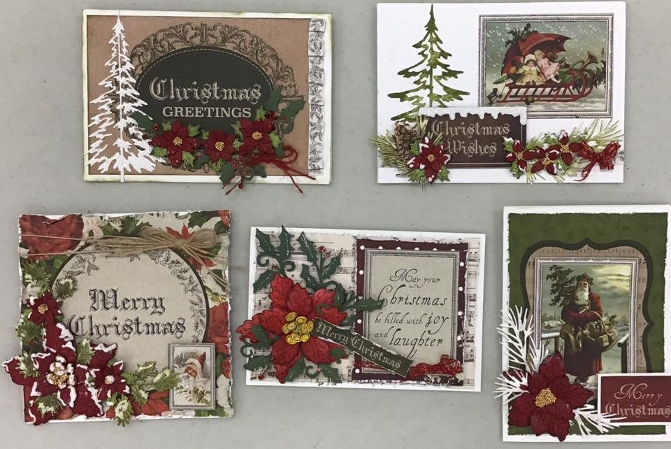Christmas Card Pack 2019 makes 5 Cards